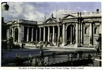 Dublin, Ireland - The Bank of Ireland, College Green, from Trinity College
