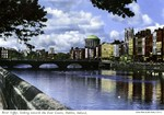 Dublin, Ireland - River Liffey, looking towards the Four Courts