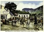Killarney - Irish Jaunting Cars at Kate Kearny's Cottage, Gap of Dunloe