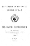 7th University of San Diego School of Law Commencement Program, 1964