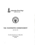 14th University of San Diego School of Law Commencement Program, 1971