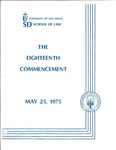 18th University of San Diego School of Law Commencement Program, 1975
