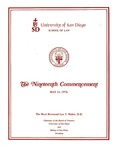 19th University of San Diego School of Law Commencement Program, 1976