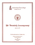 20th University of San Diego School of Law Commencement Program, 1977