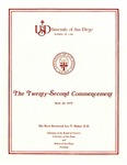 22th University of San Diego School of Law Commencement Program, 1979