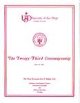 23th University of San Diego School of Law Commencement Program, 1980 by University of San Diego School of Law
