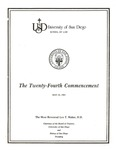 24th University of San Diego School of Law Commencement Program, 1981
