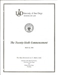26th University of San Diego School of Law Commencement Program, 1983