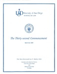 32th University of San Diego School of Law Commencement Program, 1989