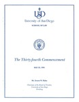 34th University of San Diego School of Law Commencement Program, 1991