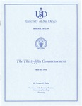 35th University of San Diego School of Law Commencement Program, 1992