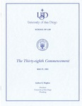 38th University of San Diego School of Law Commencement Program, 1995 by University of San Diego School of Law