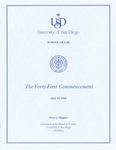 41th University of San Diego School of Law Commencement Program, 1998