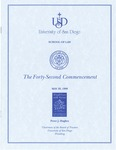 42nd University of San Diego School of Law Commencement Program, 1999 by University of San Diego School of Law
