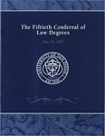 50th University of San Diego School of Law Commencement Program, 2007 by University of San Diego School of Law