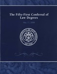 51th University of San Diego School of Law Commencement Program, 2008 by University of San Diego School of Law