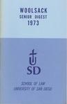 Woolsack Senior Digest, 1973 by University of San Diego School of Law