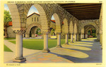 Arches in  Memorial Court, Stanford University, Palo Alto, California