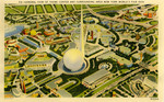 General View of the Theme Center and Surrounding Area New York World's Fair 1939