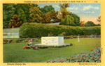 Franklin Delano Roosevelt's Grave on the Estate at Hyde Park, New York