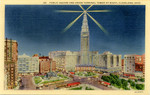 Public Square and Union Terminal Tower at Night - Cleveland, Ohio