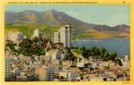 Russian Hill Skyline, Mt. Tamalpais in Background, San Francisco, California