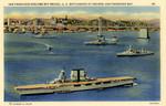San Francisco-Oakland Bay Bridge, U.S. Battleships at Anchor, San Francisco Bay