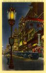 Street Scene at Night, Chinatown, San Francisco, California