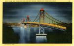 Night View, San Francisco-Oakland Bay Bridge, Toward San Francisco, California