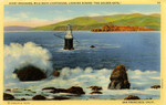 """United States – California – San Francisco – Giant Breakers – Mile Rocks Lighthouse – Looking Across """"The Golden Gate"""""""