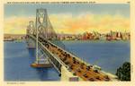 San Francisco-Oakland Bay Bridge, looking toward San Francisco Bay