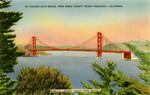 United States – California – Golden Gate Bridge from Marin County to San Francisco, California