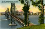 San Francisco-Oakland Bay Bridge and skyline of San Francisco, California