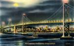 United States – California – San Francisco-Oakland Bay Bridge at Night