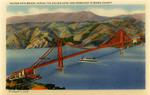 United States – California – Golden Gate Bridge across the Golden Gate – San Francisco to Marin County
