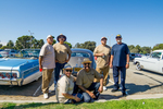 Bombas Car Club: Photograph of Bombas Car Club members at Lowrider Council event at Mission Bay