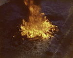 Brown Image Car Club: Photograph of the symbolic ritual of burning a jacket in front of club members