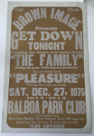 "Brown Image Car Club: Poster for a dance (""Get Down Tonight"") hosted by the club"