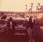 Casinos Car Club: Photograph of Edwardo Corona and Miguel Croce with Casinos Car Club plaque
