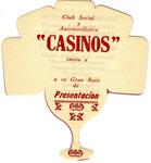Casinos Car Club: Invitation (inside cover) to Casinos Car Club dance