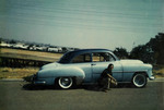 Chicano Brothers Car Club: Photograph of David Aguilar with his 1952 Chevy