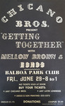 Chicano Brothers Car Club: Poster advertising a dance hosted by the Chicano Brothers Car Club at the Balboa Park Club