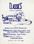 Classics Car Club: Poster of Classics 13th Annual Dance Party at the San Diego Convention and Performing Arts Center