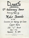 Classics Car Club: Poster of Classics 12th Anniversary Dance at the Convention and Performing Arts Center