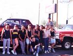 Individuals Car Club: Photograph of car club members, including Juan Cuervo, Roberto Sandoval, Fernando Sandoval, Armando Medina, Ismael Arias, and Jesús Lemus