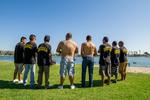 Individuals Car Club: Photograph of Individuals Car Club members at Lowrider Council Event at Mission Bay