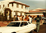 Korner Car Club: Photograph of a blessing of the cars, including a 1973 Gran Torino owned by George Rodriguez. in front of Our Lady Guadalupe Church
