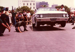 "Korner Car Club: Photograph of the annual ""hop"" at the county administration building in downtown San Diego, an event hosted by the Korner Car Club with a cash award given to the winner"