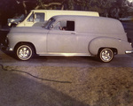 Latin Lowriders Car Club: Photograph of a 1952 Sedan Delivery belonging to Richie Burgos