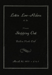 "Latin Lowriders Car Club: Invitation (cover) to a dance (""Stepping Out"") hosted by the Latin Lowriders"